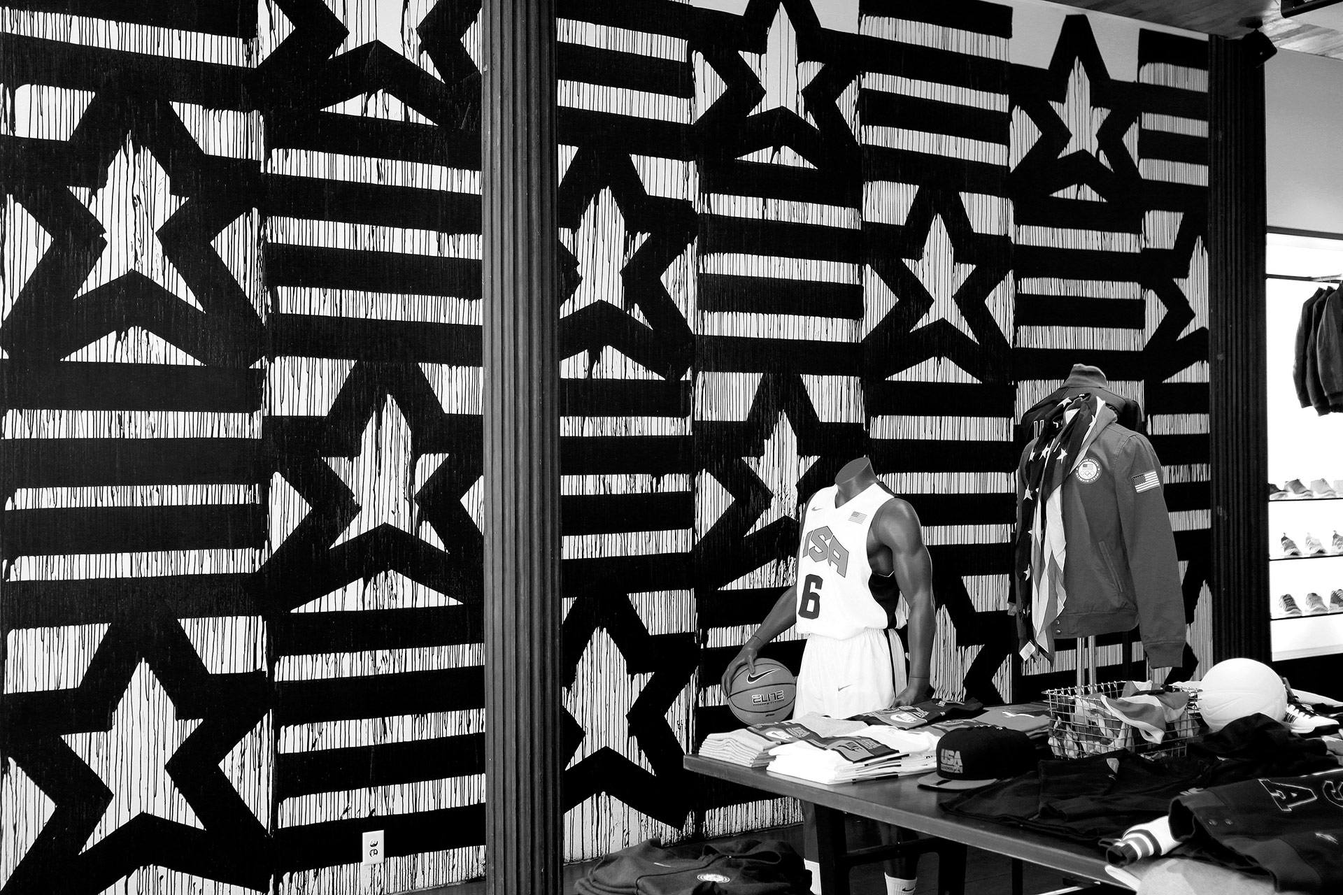 Eric Haze Nike Olympics 21 Mercer Mural collection