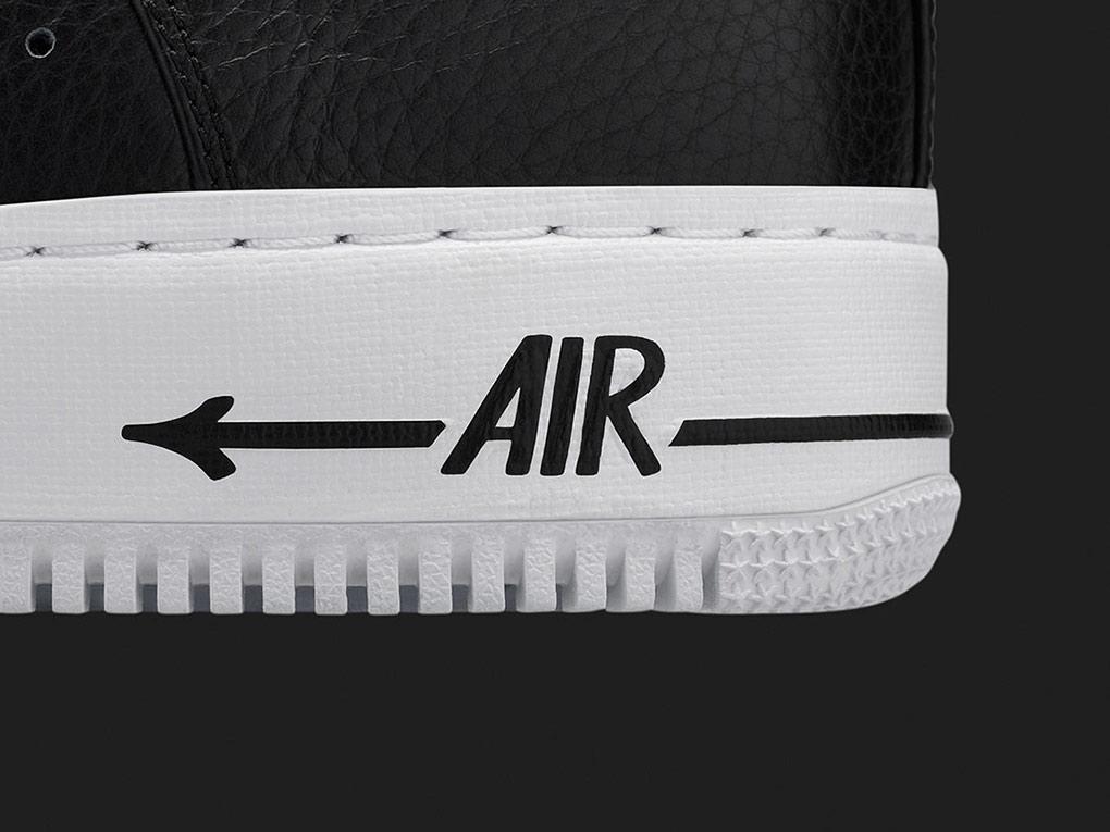 Eric Haze Nike Air Force 1 blackbooks heel